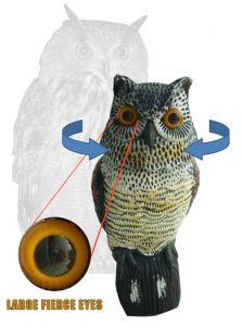 BIRD SCARE HUNTING OWL (ROTATING HEAD)